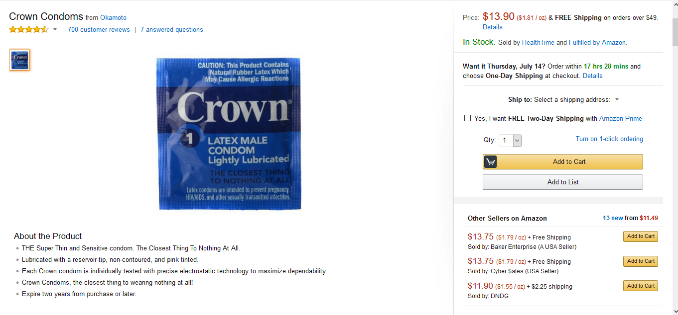 Crown Condoms from Okamoto